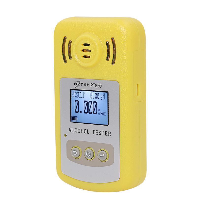Profesyonel Alkol Test Cihazı LCD Ekran Dijital Nefes Hızlı Yanıt Sarhoş Sürücüler için Hızlı Yanıt Breathalyzer Alcotester PT820 Alkolizm Testi