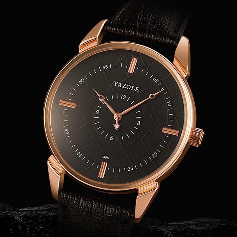 Armbanduhren Yazole Herrenuhr minimalistische Quarz hochwertige geschäftsmode wasserdichte uhr