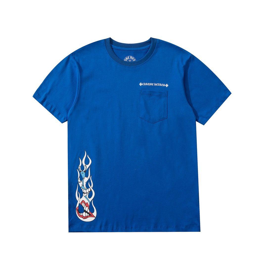 2021 T-shirt pour hommes et femmes épissures impression à manches courtes au début du printemps Double Strand Double Strand Fine Coton Tissu Processus d'impression numérique E32