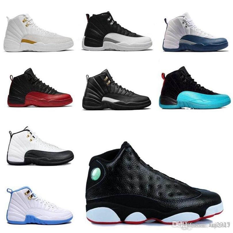 Nike Jordan Air Retro 12 Boots University Gold Dark Concord Game Game White Hombres Baloncesto Zapatos de baloncesto 12s Playoff French Blue Sneakers 40-46 K2162 DHX-H163