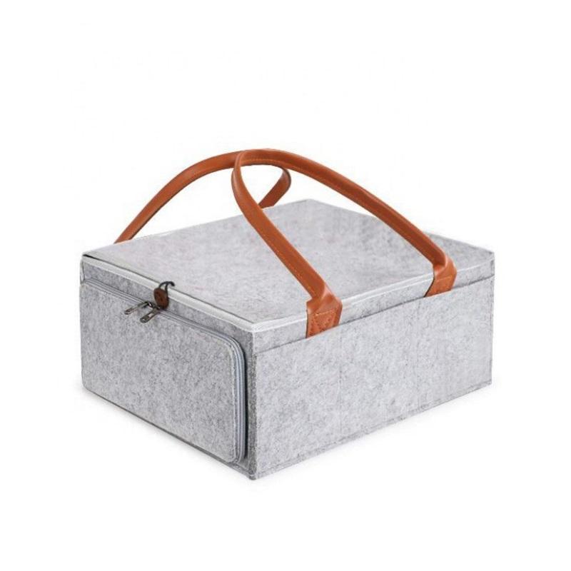 아기 실용적인 대용량 펠트 여행 및 홈 탈착식 세척 기저귀 저장 가방 내구성 파우치 접이식 486 Y2 휴대 쉽게