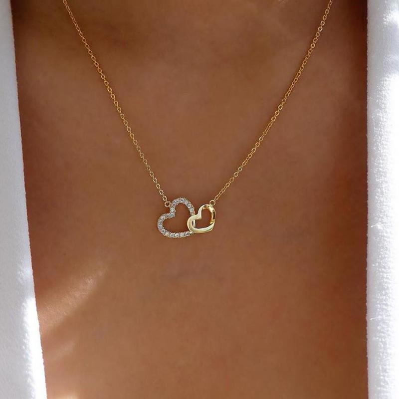 Fashion Mujer Sweet Love Heart Pendant Necklace Statement Girlfriend Gift Cute Jewelry Collier Weeding Femme Gifts Necklaces