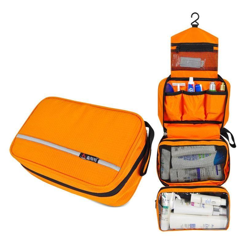 Hanging Toiletry Bag Travel Wash Organizer Kit For Men Women Cosmetics Make Up Sturdy Hook Shower Bags Storage