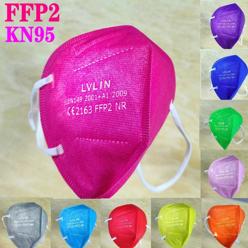 KN95 FFP2 CE قناع FFP3 EU WITELIST أجهزة التنفس مرشح مكافحة الضباب الضباب والأنفلونزا Dustrove قابلة لإعادة الاستخدام Masque 5 طبقة المعتمدة واقية mascarillas في المخزون