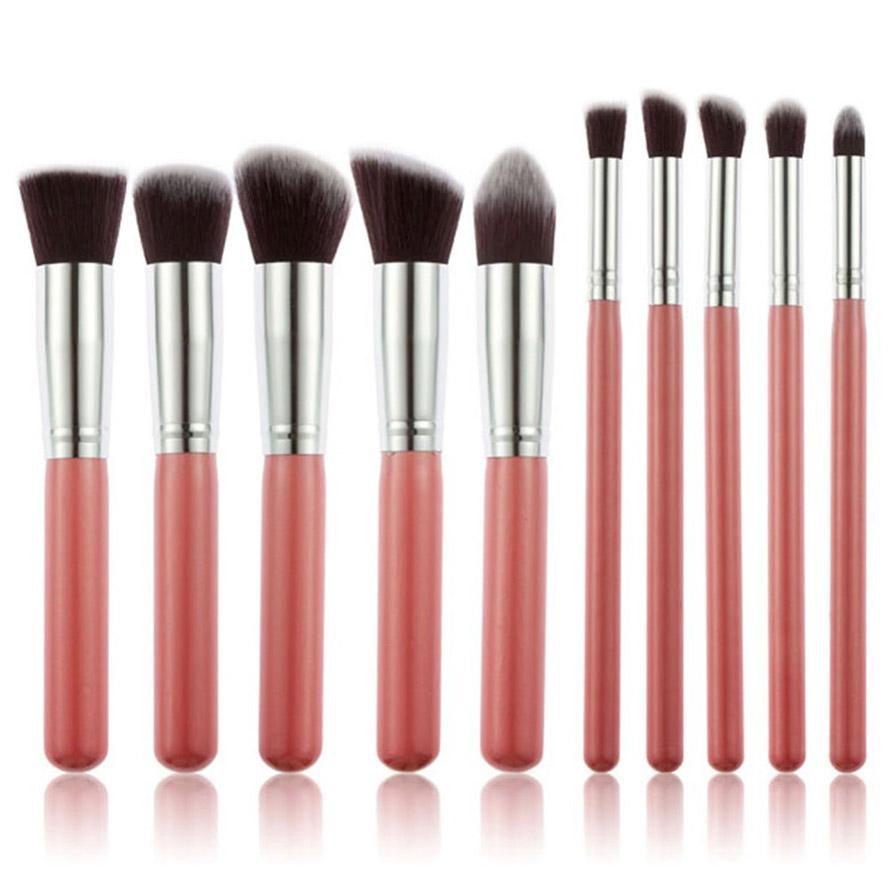 10pcs Makeup Brushes set Professional Powder Foundation Eyeshadow Make Up soft fur Cosmetics Synthetic Hair