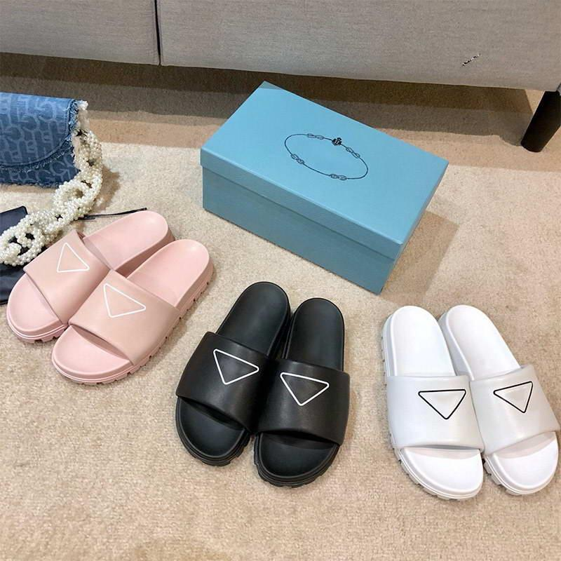 Frauen Mode Sandalen Designer Flache Folien Flip Flops Schuhe Schwarz Weiß Rosa Slipper Desert Spike Sohle Platform Sandale Frau Designer Hausschuhe