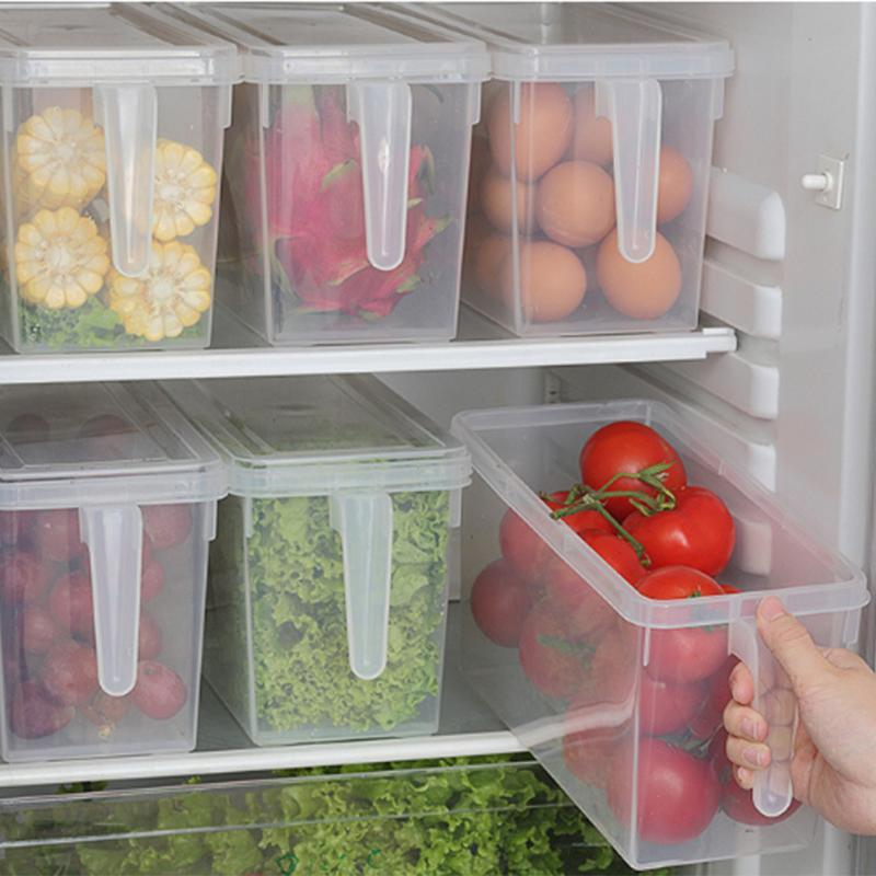 Storage Bottles & Jars Refrigerator Drawers Transparent Fridge Box Preservation Organizer Boxes Plastic Grain Container