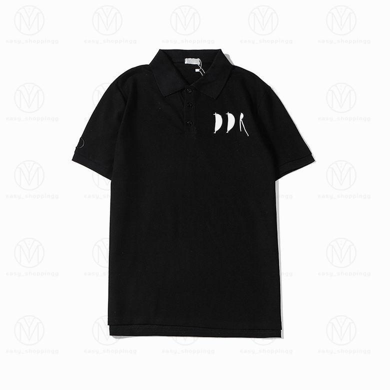 2021 프랑스 망 디자이너 폴로스 셔츠 높은 거리 자수 인쇄 T 셔츠 여름 티셔츠 브랜드 맨 S 의류 cottom 의류 티셔츠