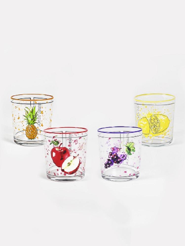 380 ml Frisches Glas Set - Wassermilchsaft aus der Türkei Weingläser