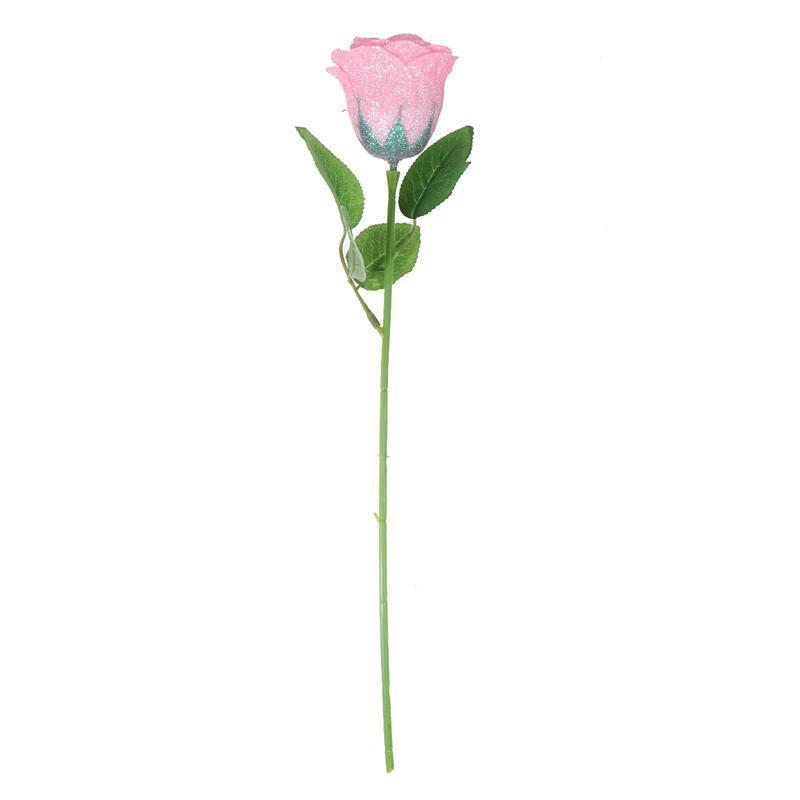 Flores decorativas guirnaldas rosa brillo simulado ramo ramo artificial regalo del día de San Valentín para el festival de bodas Festival Decoración del hogar