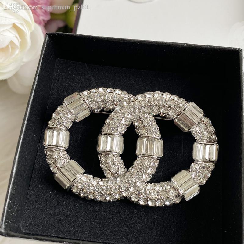 패션 다이아몬드 디자이너 브로치 유명한 편지 C 브로치 핀 술 여자 럭셔리 핀 보석 고품질 19 스타일
