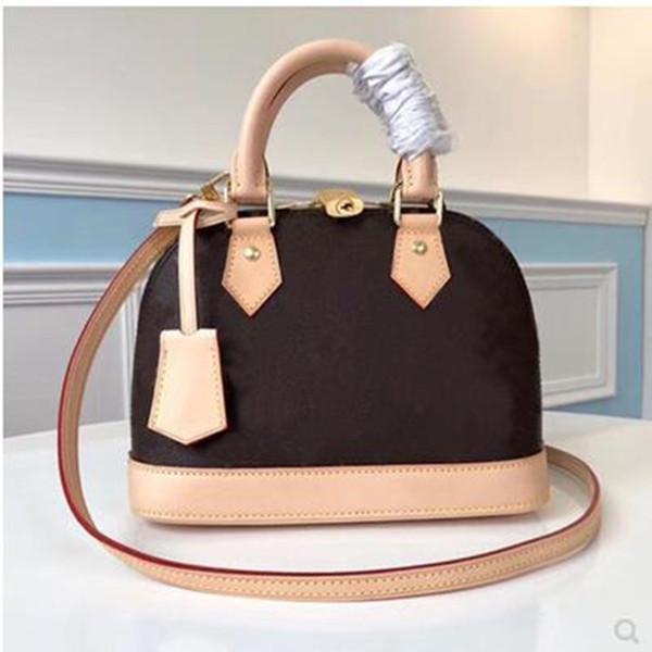 Hohe Geldbörsen Womens Original Shell Bag Leder Herren Alma haben Mini-Qualität haben Versandtaschen Staub Bb-Schloss und Key Free Handtaschen Welk
