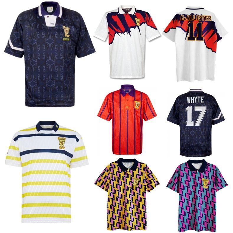 1988 1991 1993 1994 1994 Jersey de football rétro Scotland 88 93 McCoist Bowman Mcinally Mcinally Mo Johnston Vintage Chemise de football classique