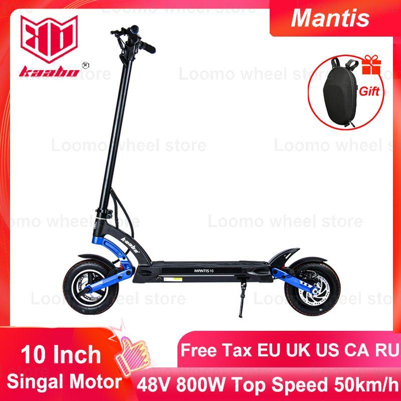 Original kaabo mantis scooter 800w single motor 48v 13ah 18.2ah two wheel skateboard kickboard 10inch