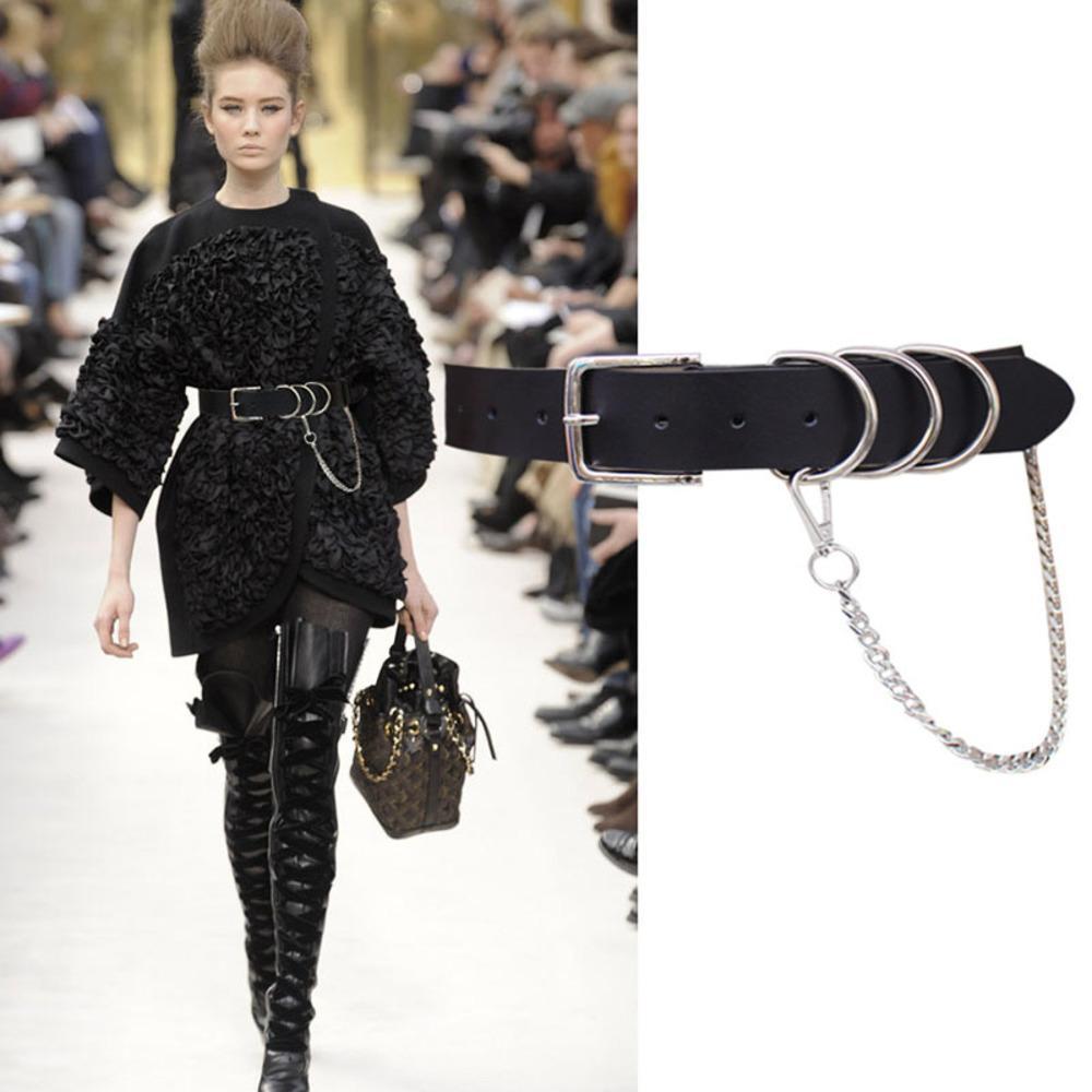 Cinto de couro cintos, terno decorativo da cadeia feminina com saia, camisa, cintura, jeans elegantes e cinto largo