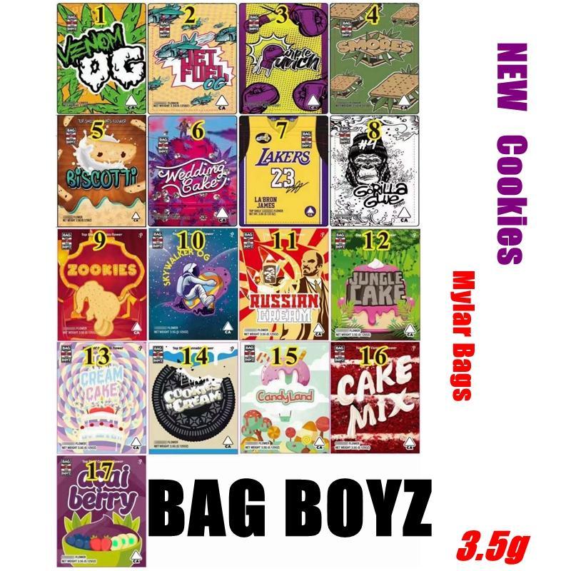 Medicated Infuled 3.5G сумка Бойз Упаковка упаковки 17 Типов Bagboyz Reazealable Запах Доказательство Mylar Пакеты BB Plastic Stand Up Ziplock Baggles Cookies Сухой Цветок