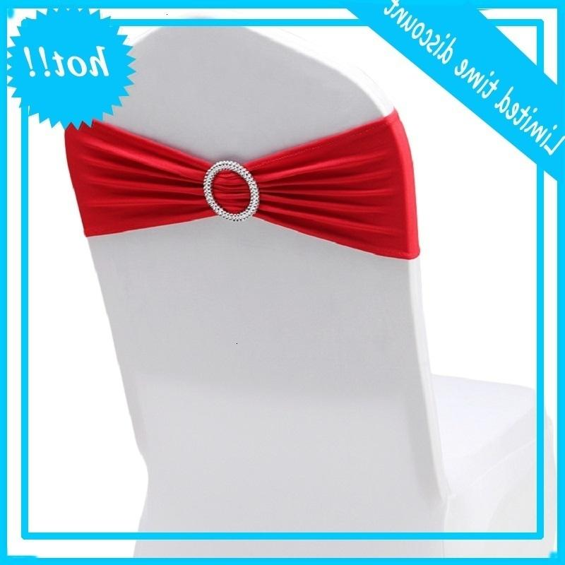 RUBIHOME Sashes (10pieces/lot) Chair Band Stretch Spandex Cover with Ring for Wedding Party Chirstmas Decoration