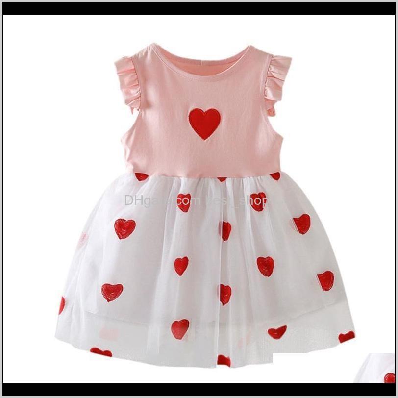 Baby Baby, & Maternitysagace Kids Dresses For Summer Ruffle Love Print Party Princess Dress Fashion Casual Sleeveless Toddler Girls Clothing