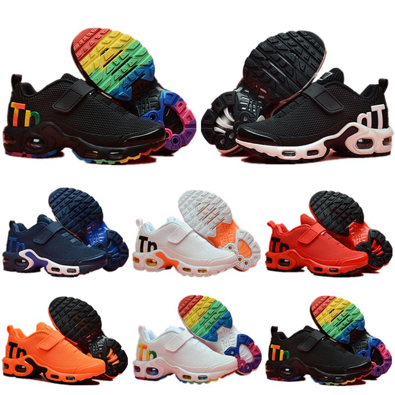 Nike Mercurial Air Max Plus Tn 2019 hot Infant Kids Tn Scarpe da corsa Air Grey White Black Scarpe sportive per bambini Toddler scarpe da design Plus Rainbow Boy Girl Tns Sneaker