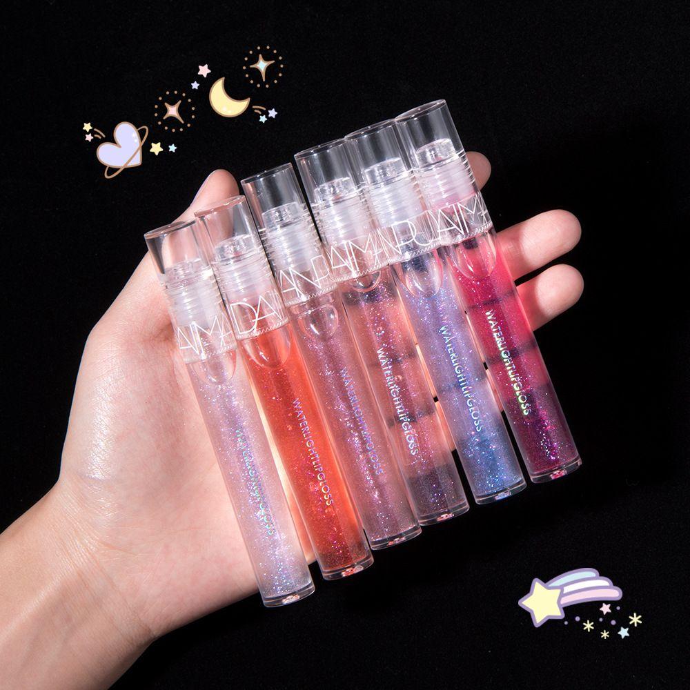6 couleurs brillants brillants cristal gelée lèvre brillant brillant miroir clair miroir hydratant lèvre gloss glitter glitter liquide lipstick soins maquillage