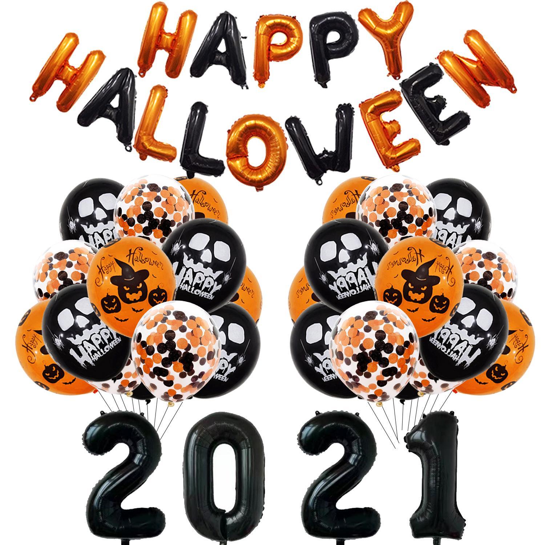 Nuevo Halloween Party Balloon Latex Airballoon Skull Pumkin Ghost Bat Dibujos animados Imprimir Decorativo Festival Suministros
