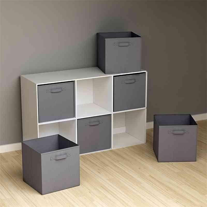 Armthm dobrável caixa de armazenamento não-tecida roupa cubos bins brinquedo brinquedo garoto caixas de armazenamento escritórios para organização doméstica T200818