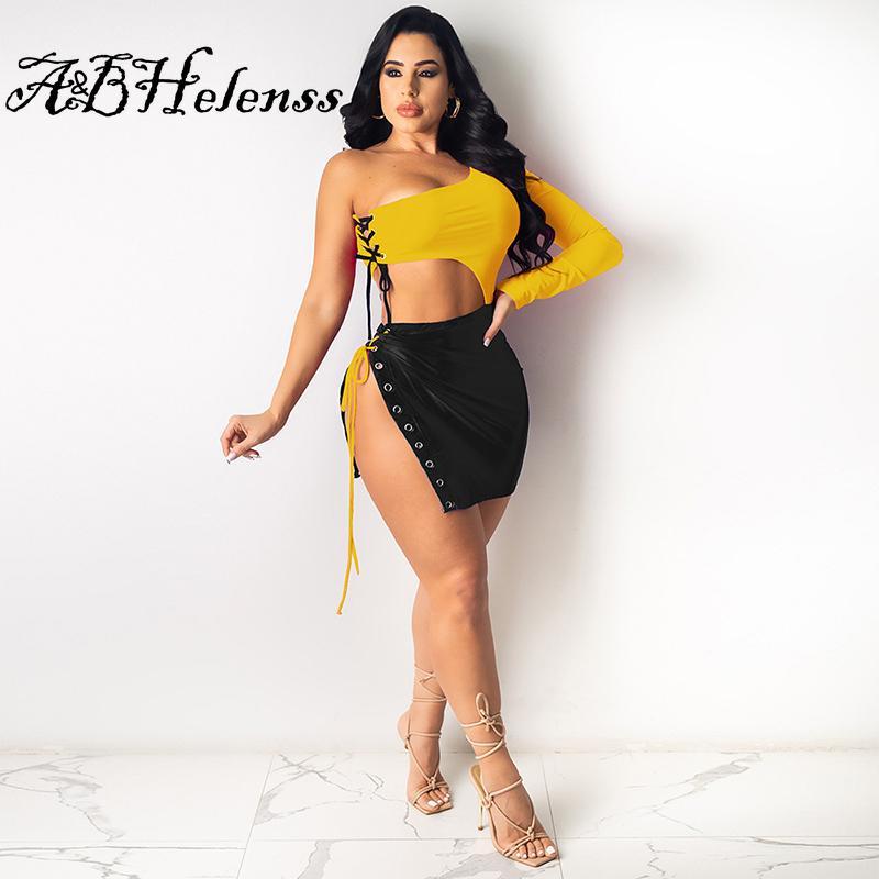 المرأة طويلة الأكمام البسيطة فساتين مثير ضمادة bodycon الجوف المرقعة الصيف الزي ليلة clubwear واحد الكتف