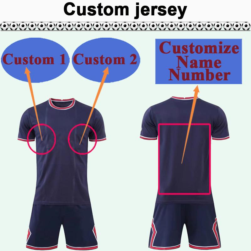 Custom National Team Club Mens Soccer Jersey Kit Vous pouvez personnaliser le nom et le nombre de chemises de football design tels que 30 Hefei