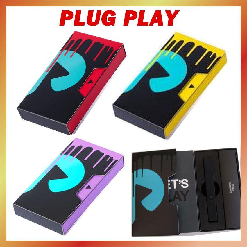 Новейшая упаковка Plug Play POD аккумуляторный аккумулятор красный желтый фиолетовый черный серебристый серебристый 500 мАч батарея Vape Pens System Subeite 1,0 мл пустой экзотики для 510 толстых масляных картриджей