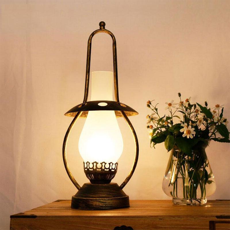 레트로 등유 테이블 램프 유리 Lampshade Nightstand 침실 주방 거실 공부 룸 다락방 홈 장식 램프