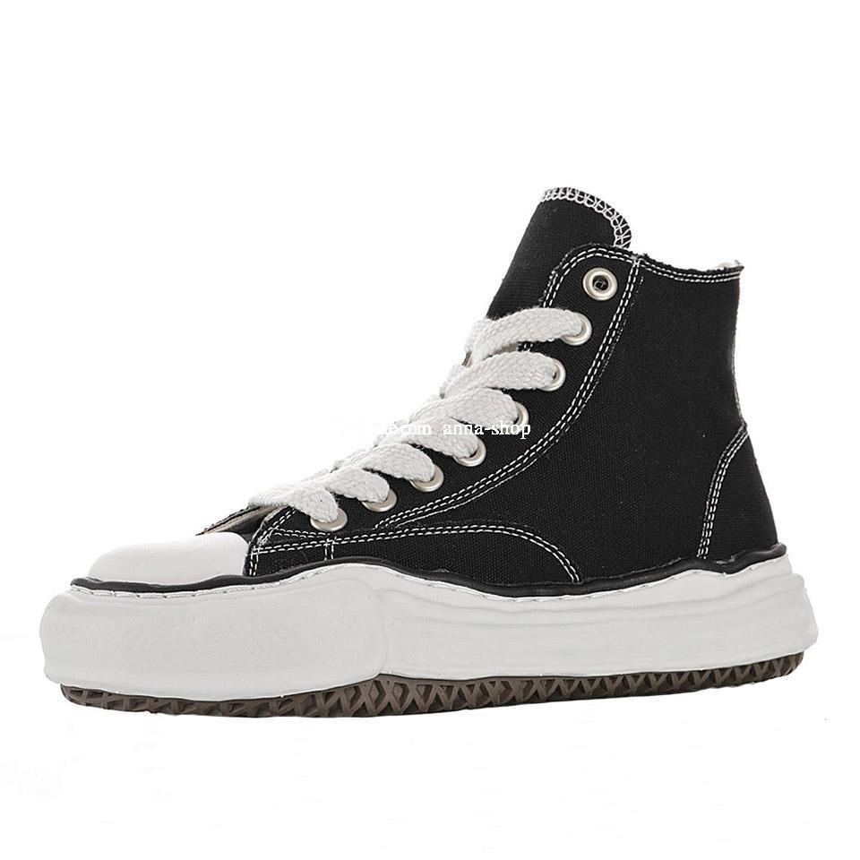 Mens Nigel Cabourn Scarpe Canvas per gli uomini Maison Mihara Yasuhiro Sneakers alti da donna Sneakers originali Stivali da donna Stivaletti Sport Sport Sneaker in nero
