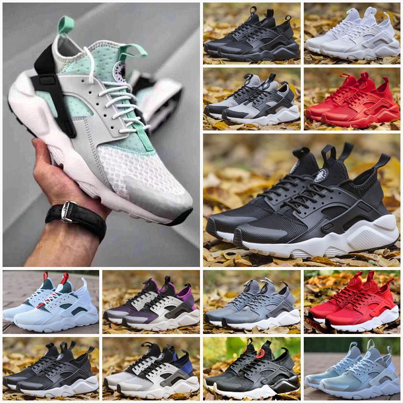 Huarache 4 IV Açık Ayakkabı Erkek Kadın Tüm Kırmızı Huraches Zapatos Huarakes Erkek Eğitmenler Hurla Sneakers Boyutu 36-45