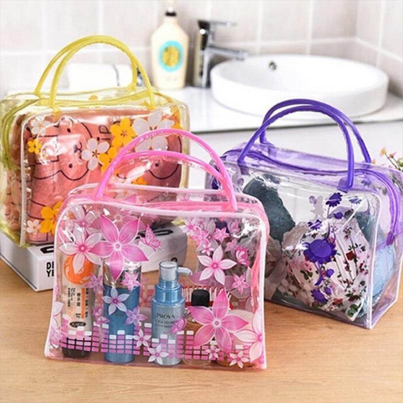 Transparent Plastic Organizer Cosmetic Makeup Bag Casual Travel Waterproof Toiletry Wash Bathing Storage Rd890762