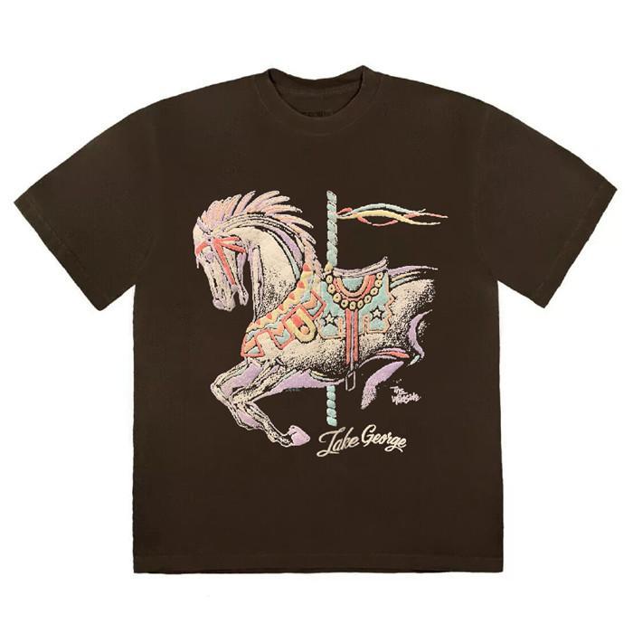 T-shirts hommes hommes T-shirt Mens T-shirt Carousel Hein Street High Street Manches courtes Haut Casual Mode Homme Vêtements