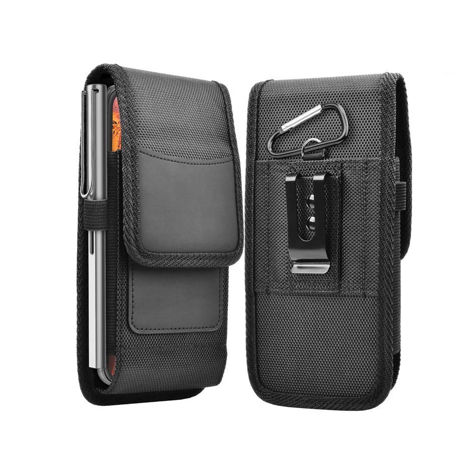 Clip universale clip clip clip custodie per iPhone 12 Pro Max Huawei Xiaomi Redmi Nota 9 9S Samsung card busta Oxford Cover Bag