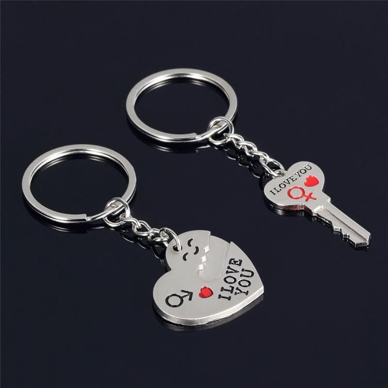 Schlüsselanhänger Liebhaber lieben Sie im geheimen kreativen Keychain Anhänger Pfirsichherz Valentinstag Geschenk