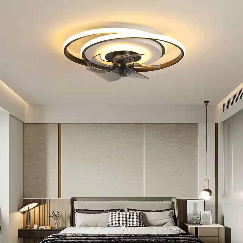 European Modern Simple Ceiling Fan Living Room Bedroom Hall Household Lamp Fashion Decoration Fans