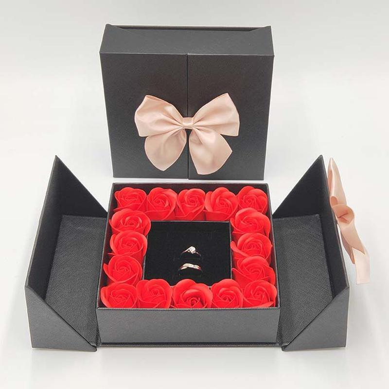 ROSE SPACE 16 Roses Propose Artificial Flowers Saop Flowers Flower Box Gift Christmas Party Valentines Wedding Girl Gifts dsf1060