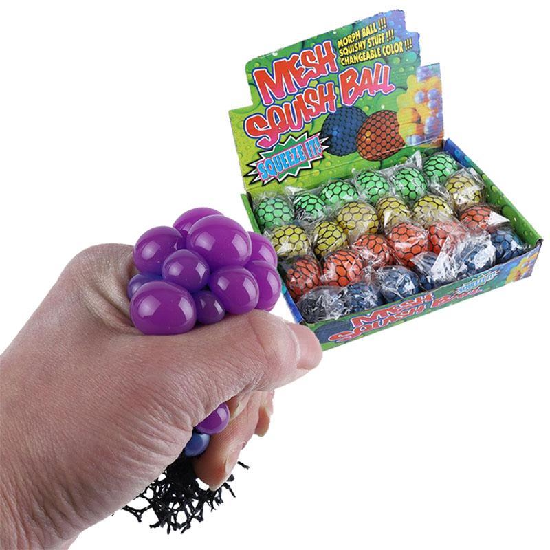 5.0cm Malha Squishy Grape Ball Fidget Brinquedo Anti Stress Bolas De Ventilação Esprema Brinquedos De Descompressão Ansiedade Reliever