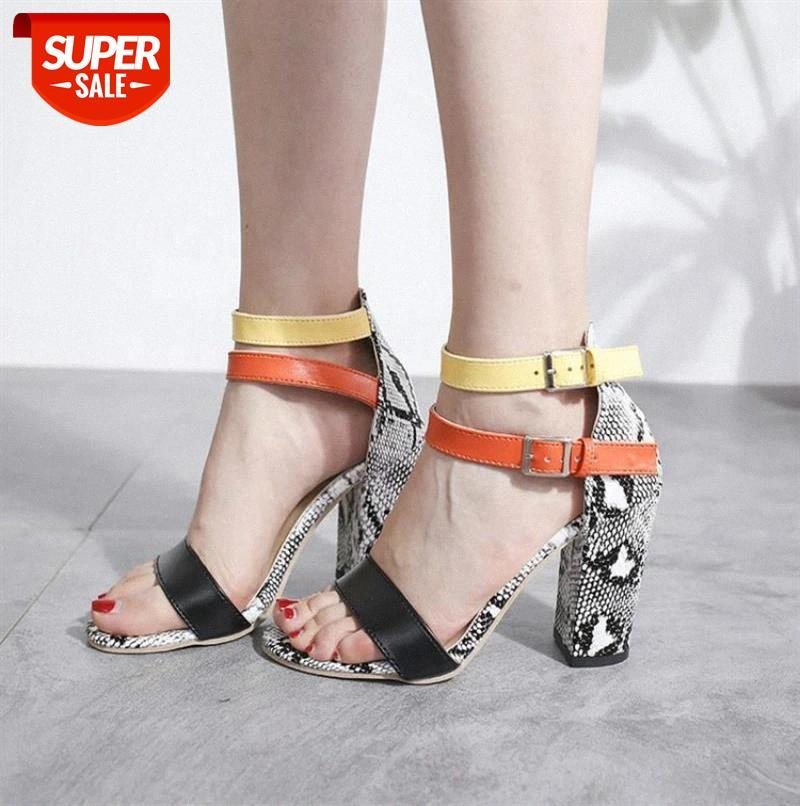 Women's Ladies Fashion Mixed Colors High Heels Buckle Sandals Casual Shoes Summer Women #P55p