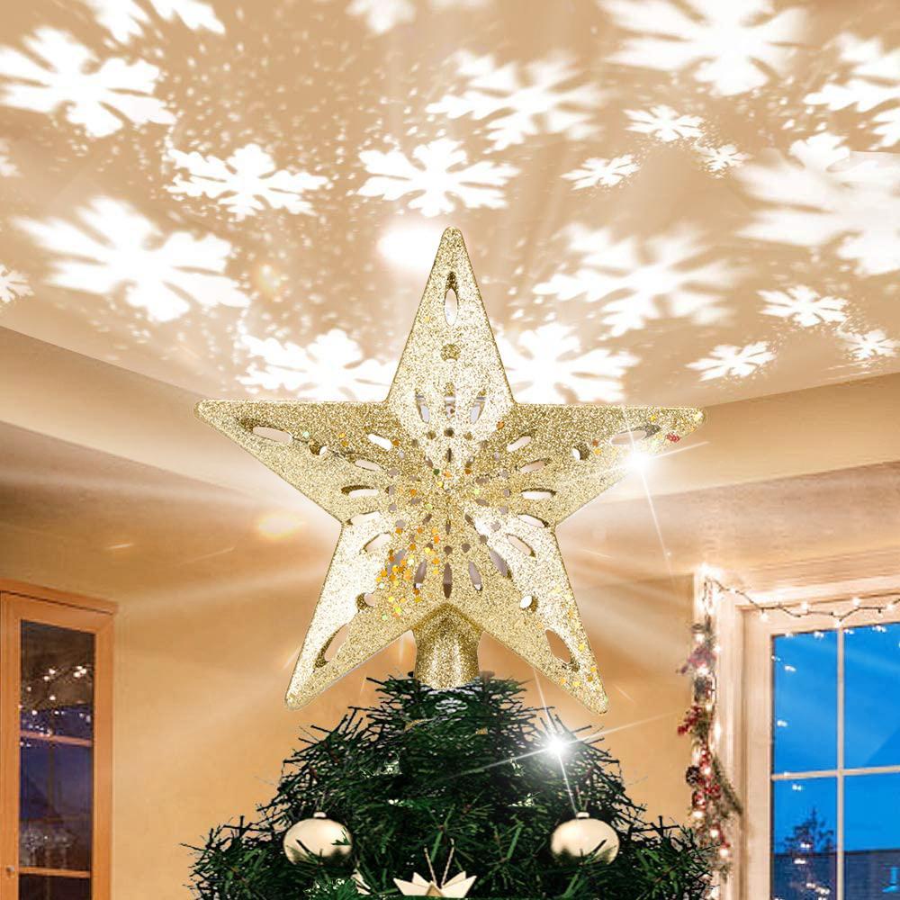 Natal ornamento luzes estrela projetor decoração árvore de Natal luz para férias iluminação de ano novo decorações