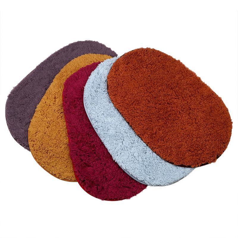 Tapis de salle de bain ovale 40x60cm Absorbant molet mousse de chambre mousse de chambre à coucher de bain antidérapante tapis de paillasson