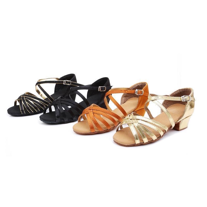 Sneakers High Quality Arrival Children's Latin Dance Shoes Girls/child/kids/student Ballroom Tango Salsa Low Heel