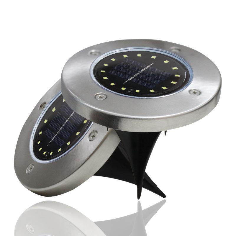 야외 조명 태양 전원 패널 LED 플로어 램프 데크 라이트 8/10/12/16/20 LED 지하 조명 정원 경로