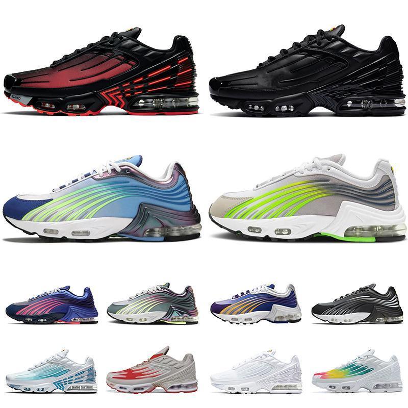 nike air max tuned 3 airmax tn plus 2 2021 Scarpe da corsa sportive da donna per uomo TAGLIA 12 Triple Black Aqua Volt Hasta Valor Blue Obsidian Trainers Sneakers