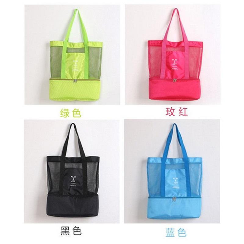 Горячая портативная открытая двойная палуба термоизолированный ланч коробка Tote Cooler Bag Bento сумка путешествия сумки для хранения RRD7235