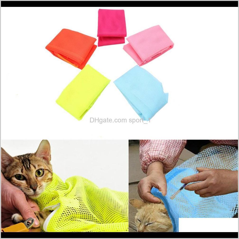 Gato de lavado de aseo transpirable multifunción para el corte de uñas Bolsa de baño de mascotas Easy Smart WWVJE 98lgy