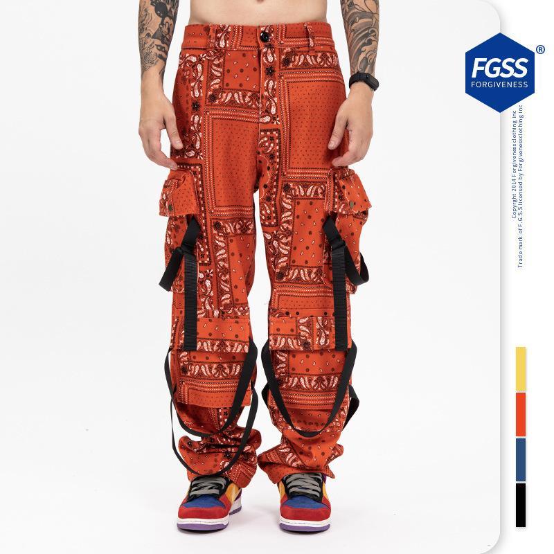 Moda de lujo de alta calidad de moda de diseño de lujo de alta calidad de diseño de alta calidad, desgaste de los hombres de la nueva moda de la Función de la cinta del anacardo del Hip Hop