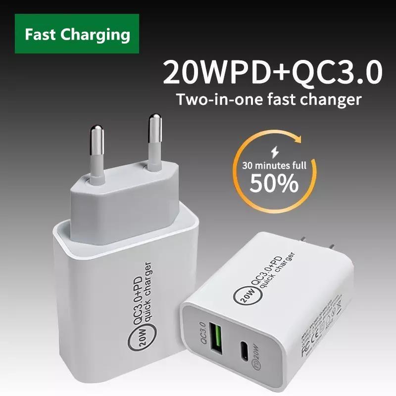 20W USB Type C Зарядное устройство для iPhone 12 Pro Max Mini Быстрая зарядка 3.0 QC PD USB-C Быстрая зарядка проездной настенный адаптер