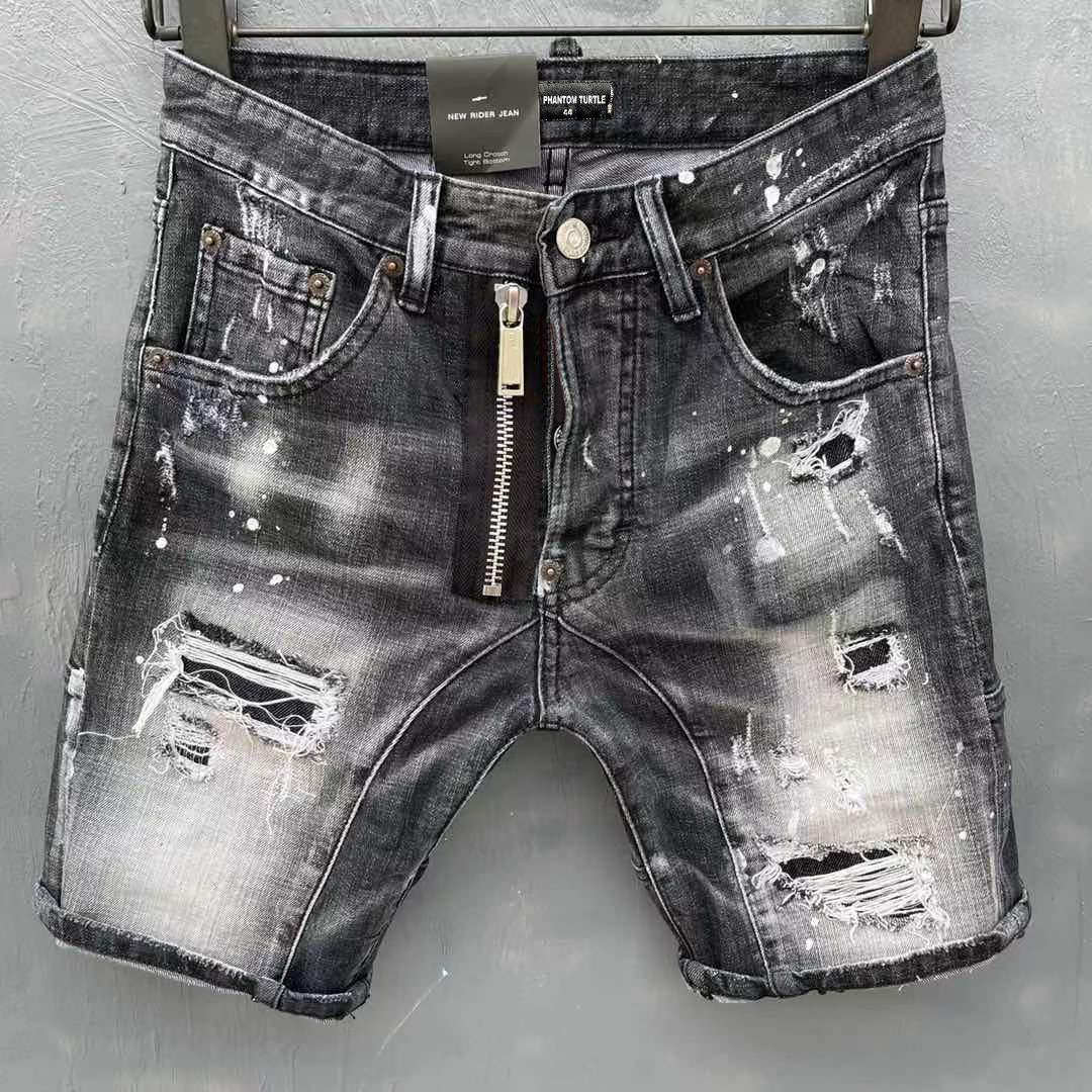 DSQ Jeans Hommes Jeans hommes luxe designerjeans Skinny déchiré Cool Guy Causal Hole Denim Fashion Marque Fit Jeans Hommes Pantalon lavé 20210
